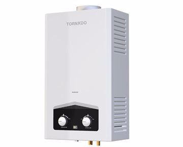 Picture of TORNADO Gas Water Heater 6 Litre Digital In White Color For Petroleum Gas GHM-C06CTE-W