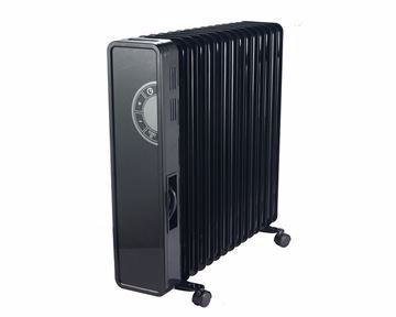 Picture of TORNADO Digital Oil Heater 15 Fins, 2800 Watt For 32 meter In Black Color with 3 Heating Settings TOH-15D
