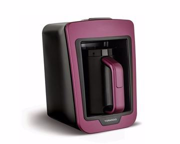Picture of TORNADO Automatic Turkish Coffee Maker 330ml, 735 Watt in Violet x Black Color TCME-100 V