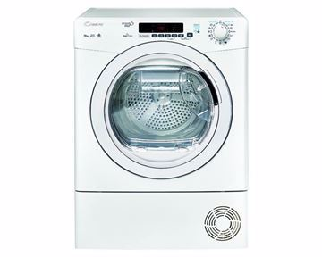 Picture of CANDY Tumble Dryer Front Loading 10 Kg , chrome door by condenser system in white color GVSC10DE-S