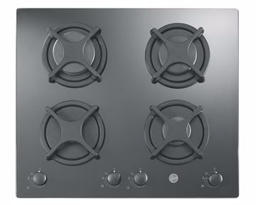 Picture of HOOVER Built-In Hob 60 x 60 cm 4 Gas Burners In Black Glass Color HGV640B/1