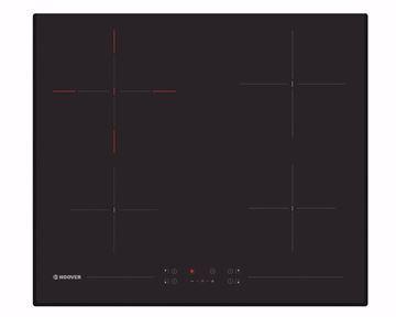 صورة بوتاجاز هوفر مسطح بلت إن 60 × 60 سم 4 عيون كهرباء لون أسود سيراميك مزود بأمان ضد عبث الأطفال HH64DB3T