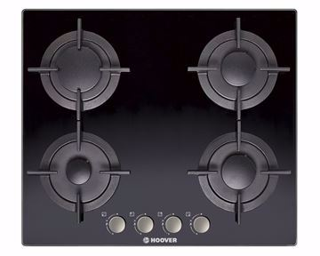 Picture of HOOVER Built-In Hob 60 x 60 cm 4 Gas Burners In Black Glass Color HGV64SMCB