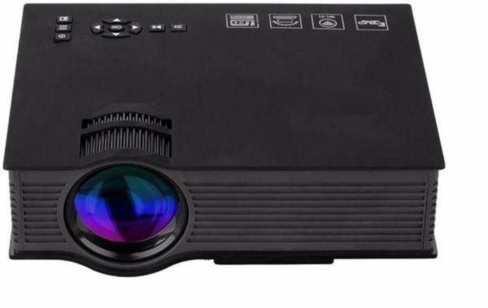 صورة Cyber Uc46hd Wireless Wifi Full Hd Led Mini Projector, Black