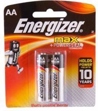 صورة Energizer MAX AA Alkaline Batteries Pack of 2 1.5V