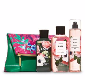 Picture of Bath and Body Works - Rose Fold-Over Cosmetic Bag Gift Set😍