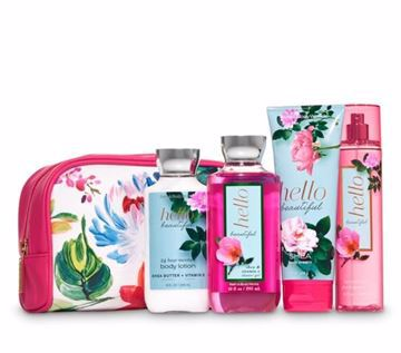 صورة Bath and Body Works - Hello Beautiful Floral Cosmetic Bag Gift Set😍