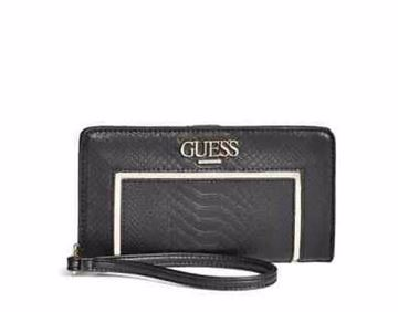 Picture of Guess Valora Phone Wristlet For Women  - Black
