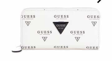 Picture of Guess Abree Printed ZIP-Around Wallet - Women