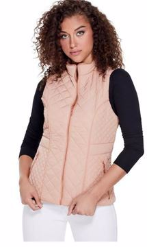 Picture of GUESS Women's PACEY QUILTED VEST - Mahogany Rose