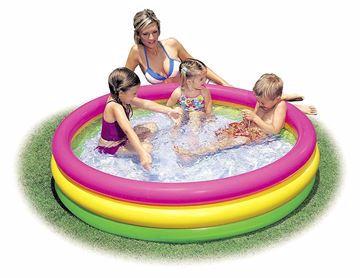 صورة Intex 3 ring inflatable kids pool 1.47m x 33cm