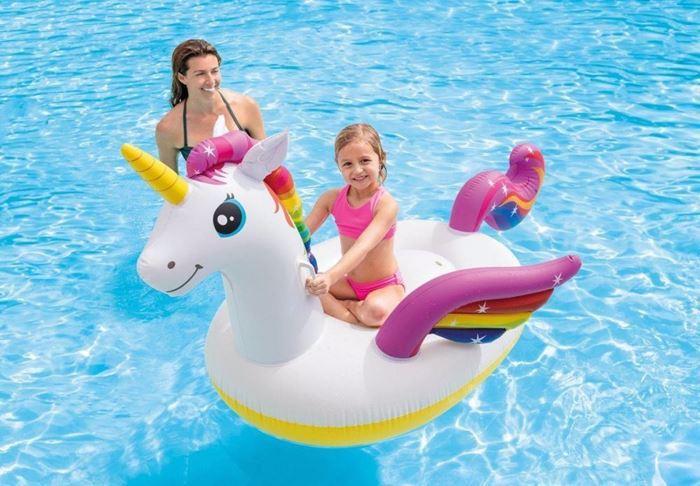 صورة Intex Unicorn inflatable ride-on 2.01m x 1.40m x 97cm