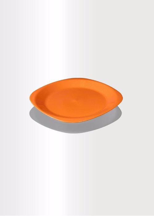 صورة طبق عشاء مسطح وسط - 23 سم - برتقالي