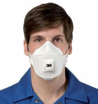 Picture of 3M mask 9332 with ventilator