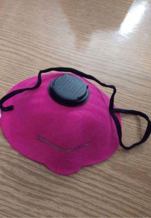 صورة Colored Face mask pink